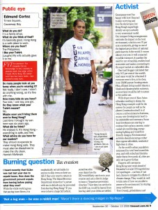 Time Out Column - 30.9.09