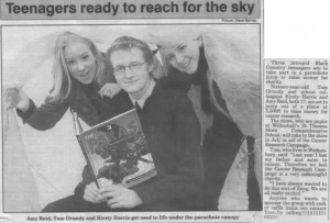 Skydive Newspaper Appearance