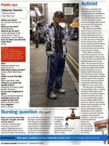 Time Out Column - 25.11.09